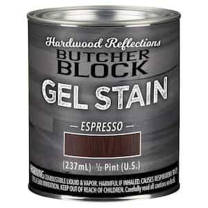 1/2-Pint Espresso Oil-Based Satin Interior Butcher Block Wood Gel Stain