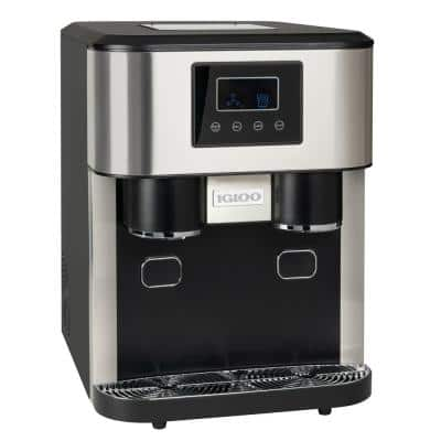 33 lb. Portable Ice Maker and Crusher in Stainless Steel