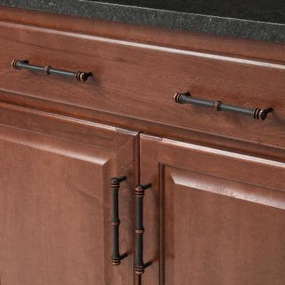 Charlotte 6 in. (152 mm) Center-to-Center Oil Rubbed Bronze Drawer Pull