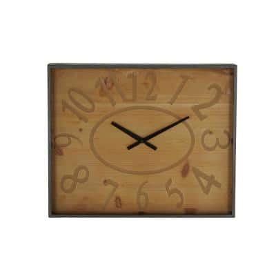 Rustic 20 in. x 24 in. Square Wall Clock