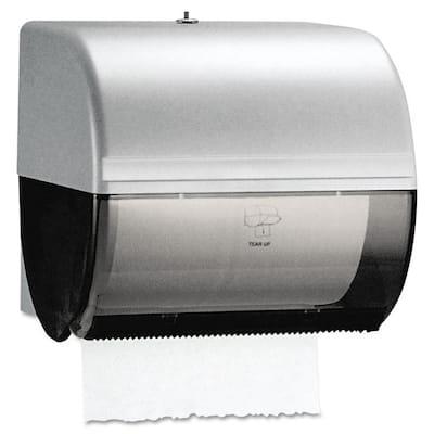 10-1/2 in. x 10 in. x 10 in. In-Sight Omni Roll Towel Dispenser in Smoke/Gray
