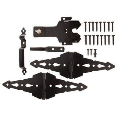 Black Deluxe Latch Gate Set