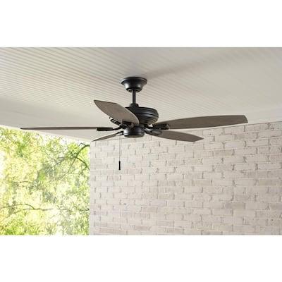 North Pond 52 in. Indoor/Outdoor Matte Black Ceiling Fan