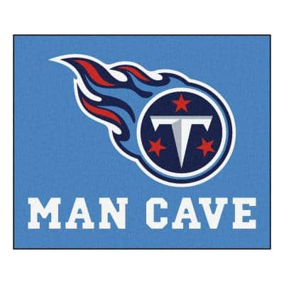 Tennessee Titans Blue Man Cave 5 ft. x 6 ft. Area Rug