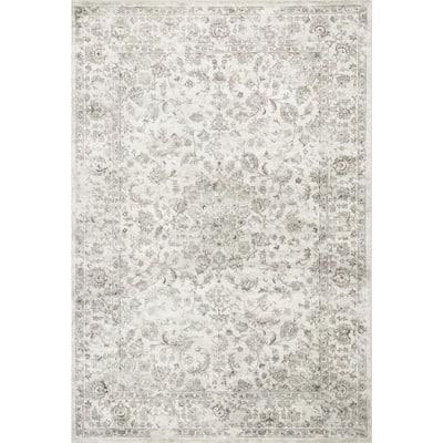 Bernadette Off White 3 ft. x 4 ft. Rectangle Silk Blend Area Rug