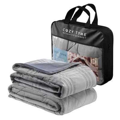 """Ekon Weighted Blanket 15 Pound 60""""x80"""", Grey"""