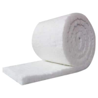 1 in. x 24 in. x 25 ft. Ceramic Fiber Insulation Blanket High Zirconium Roll for Ovens, Furnaces and Stoves