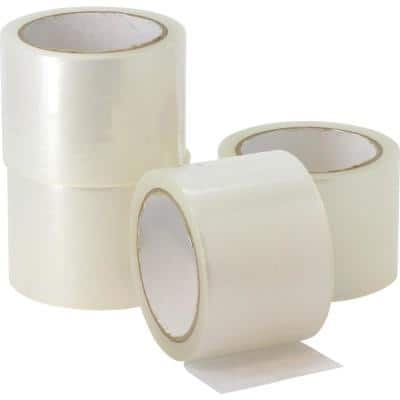 3 in. x 87 yds. Clear Heavy Duty Shipping Packing Tape (4-Pack)