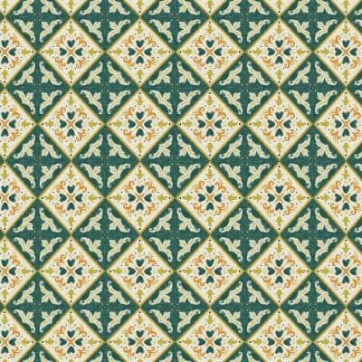 Artisans 36 in. x 54 in. Khalid Moroccan Tile Fabric by the Yard
