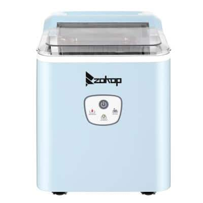 26 lbs. Portable Countertop Ice Maker in Blue