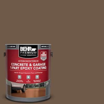 1 gal. #N230-7 Rustic Tobacco Self-Priming 1-Part Epoxy Satin Interior/Exterior Concrete and Garage Floor Paint