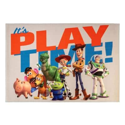Toy Story Playtime Multi-Colored 4 ft. x 6 ft. Novelty Indoor Area Rug