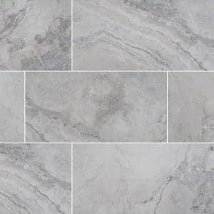 Napa Gray 12 in. x 24 in. Matte Ceramic Floor and Wall Tile (16 sq. ft./Case)