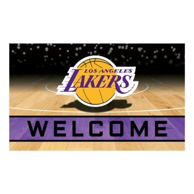 NBA - Los Angeles Lakers 18 in. x 30 in. Rubber Door Mat
