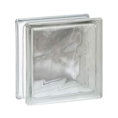 Nubio 5.75 in. x 5.75 in. x 3.12 in. Wave Pattern Glass Block (10-Pack)