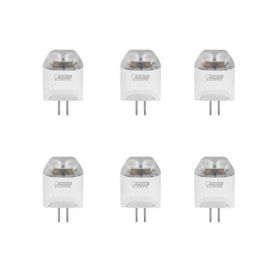 20-Watt Equivalent T5 G4 Bi-Pin Base 12-Volt Landscape Garden LED Light Bulb, Warm White (3000K) (6-Pack)