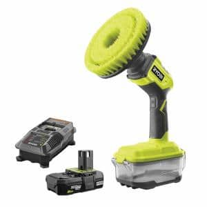 18-Volt ONE+ Compact Power Scrubber with 2.0 Ah Battery and Charger Kit