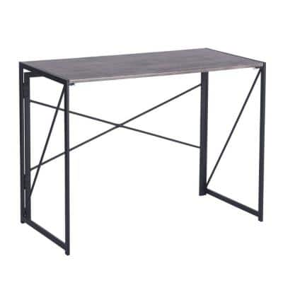 40 in. Rectangular Brown Writing Desk with Adjustable Height Feature