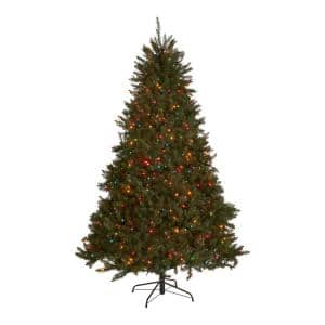9 ft. Pre-Lit Fraser Fir Hinged Artificial Christmas Tree with 950 Multi-Colored Lights