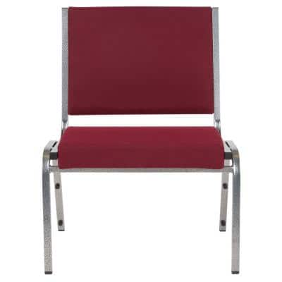 Burgundy Fabric Stack Chair
