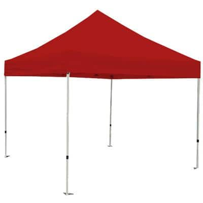 Athena 10 ft. x 10 ft. Red Cover White Frame Instant Pop Up Tent