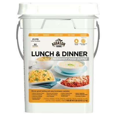 4 Gal. Pail Lunch and Dinner Variety Pail Emergency Food Supply 12 Varieties 25-Year Shelf Life
