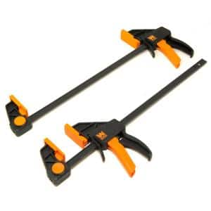 12 in. Heavy-Duty Steel Bar Clamps and Spreaders with 2.3 in. Throat (2-Pack)