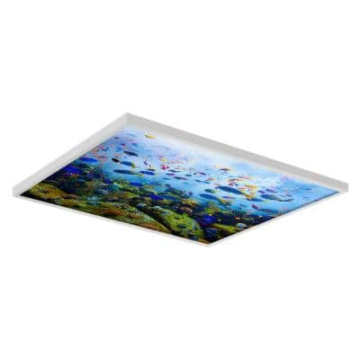 Ocean 001 2 ft. x 2 ft. Flexible Decorative Light Diffuser Panels Ocean for Classrooms and Offices