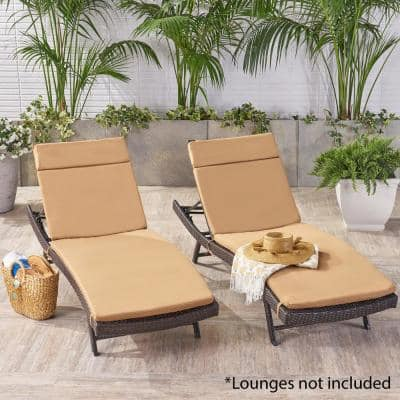 Miller Caramel Outdoor Chaise Lounge Cushion (2-Pack)