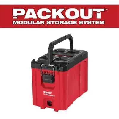 PACKOUT 10 in. Compact Portable Tool Box with Adjustable Dividers and Interior Storage Tray