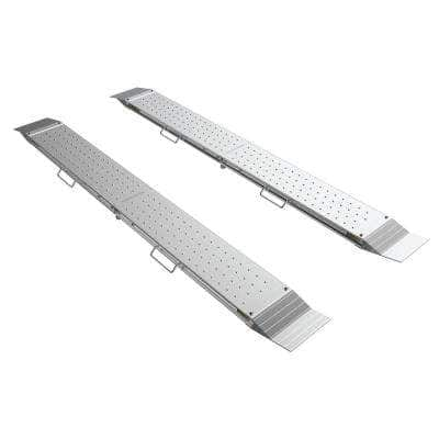 96 in. x 10 in. Aluminum Loading Ramps 2400 lbs. for Unloading Equipment for ATV, Tractor, Truck, Trailer, Car (2-Pack)