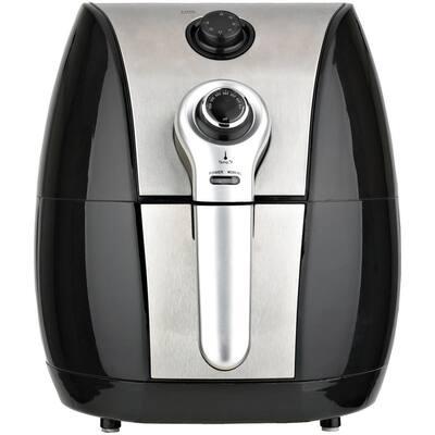 3.4 Qt. Black Vertical Electric Air Fryer