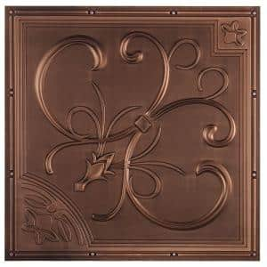 New Orleans 2 ft. x 2 ft. Lay-in or Glue-up Ceiling Tile in Antique Bronze (40 sq. ft. / case)