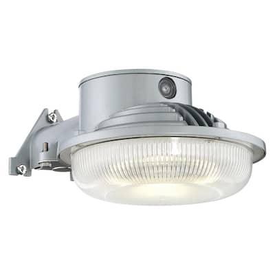 31-Watt Gray Dusk to Dawn Single-Head Outdoor Integrated LED Flood Light