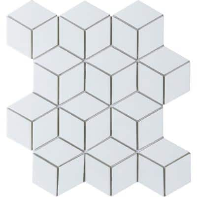 Concept White 10.24 in. x 11.81 in. Squares Semi-gloss Glass Mosaic Tile (0.84 sq. ft./Each)
