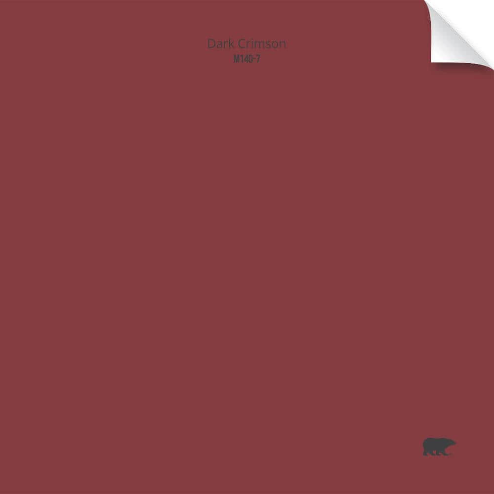 Behr 6 1 2 In X 6 1 2 In M140 7 Dark Crimson Matte Interior Peel And Stick Paint Color Sample Swatch Pnshd002 The Home Depot