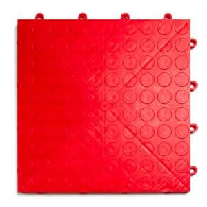 12 in. x 12 in. Coin Red Modular Tile Garage Flooring (24-Pack)