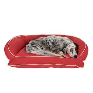 Small/Medium Barn Red Classic Canvas Bolster Bed