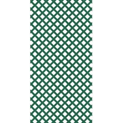 4 ft. x 8 ft. Forest Green Garden Vinyl Lattice