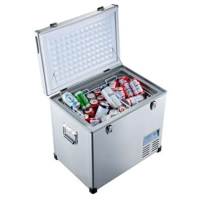 1.9 cu. ft. 58 qt. Portable Refrigerator/Freezer in Stainless-steel