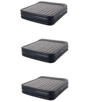 Deluxe Pillow Rest Inflatable Air Bed with Built In Pump, King (3 Pack)