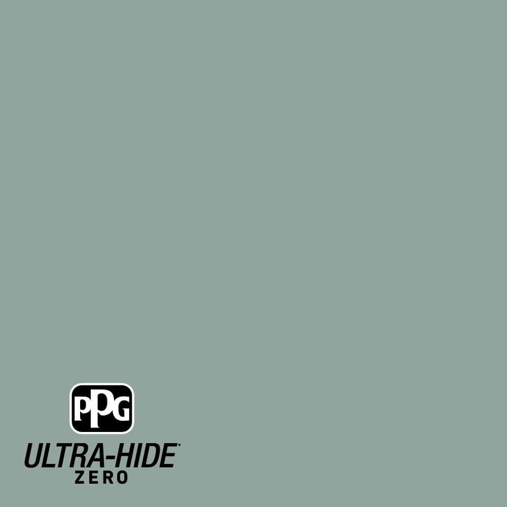 Ppg Ultra Hide Zero 1 Gal Ppg1136 5 Spruce Shade Satin Interior Paint Ppg1136 5z 01sa The Home Depot