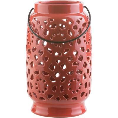 Kimba 11 in. Terracotta Ceramic Lantern