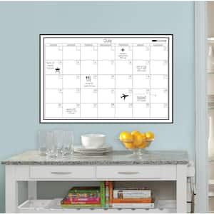 24 in. x 36 in. White Monthly Calendar Memo Board