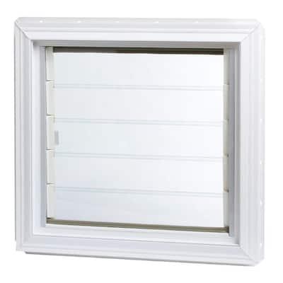 24 in. x 22.5 in. Jalousie Awning Vinyl Window in White