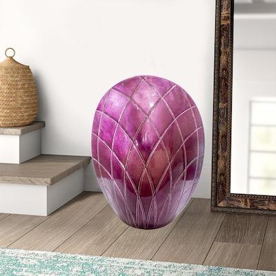 Shelly Purple Ceramic Decorative Vase