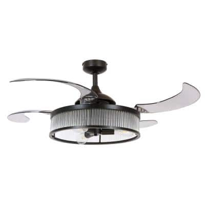 Corbelle 48-in. Integrated LED Indoor Antique Black Ceiling Fan with Light and Remote Control