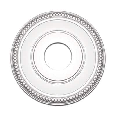 3/4 in. x 12-11/16 in. Dots Polyurethane Medallion