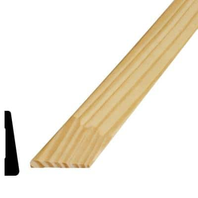 1/2 in. x 2-1/16 in. x 96 in. Finger-Jointed Pine Wood Casing Moulding