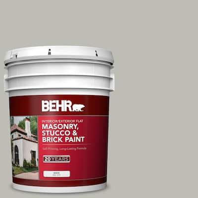 5 gal. #MS-80 Granite Flat Interior/Exterior Masonry, Stucco and Brick Paint